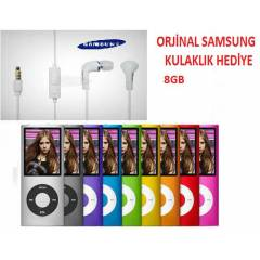 8 GB MP3 M�ZiK PLAYER FM Samsung Kulakl�k
