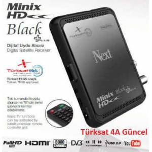 Next MiniX HD Black Plus Full HD 4A Uydu Al�c�s�