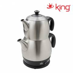 King P-315 Lea Inox Çay Makinesi & Kettle