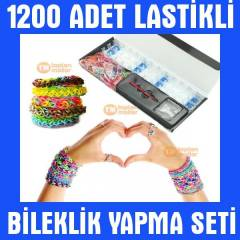 Rainbow Loom Twister Bands Bileklik Large Seti