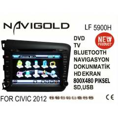 HONDA CİVİC 2012 NAVİGOLD LF 5900H MULTİMEDYA