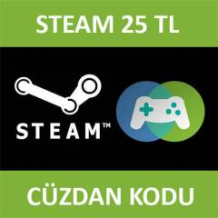 Steam 25 TL C�zdan Kodu - Steam Wallet 25 TRY