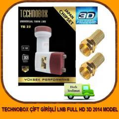 TECHNOBOX ÇİFT GİRİŞLİ LNB FULL HD 3D 2014 MODEL