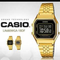 CASIO LA-680WGA RETRO Mini GOLD BAYAN KOL SAAT�