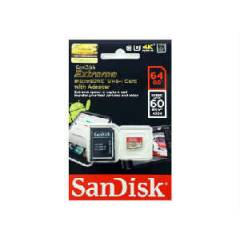 SANDISK EXTREME 64GB 60MB/s CLASS 10 MICRO SDXC