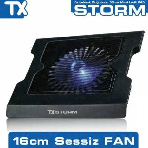 TX Storm 16cm Mavi Led Fanl� Notebook So�utucu