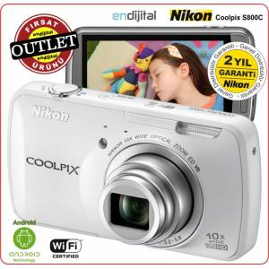 Nikon Coolpix S800c 16 MP 10x Zoom Wi-Fi,Android