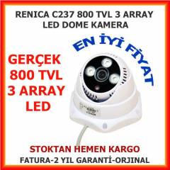 RENICA DOME KAMERA 800 TVL 3,6 MM 3 IR LED