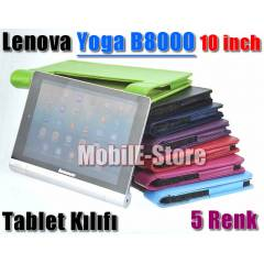 Lenovo Yoga B8000 10 inc Tablet K�l�f+Kalem+Film