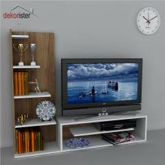 Dekorister Sleek Kitapl�kl� Tv �nitesi