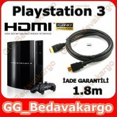 Sony PS3 Playstation 3 HDMI Kablo 1.8m Alt�n