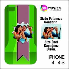 Apple iphone 4 K���YE �ZEL Bask�l� Telefon Kapa�