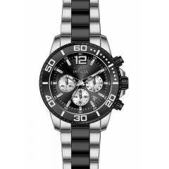 INVICTA PRO DIVER JAPAN CHROGRAPH BLACK SILVER