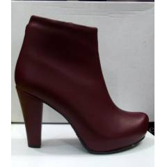 HAPPY SHOE 10MM PLATFORM DER� BORDO TOPUKLU