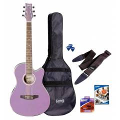 Ashton SPFG48 Acoustic Guitar Pack LS - Lila