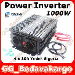 WOZLO 1000w Power Invertör Inverter USB li