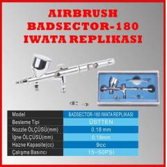 DUAL ACTION AIRBRUSH BADSECTOR 180 IWATA BENZER�