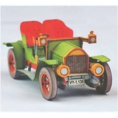 1:32 Opel Coupe 1909 Model Araba Karton Maketi