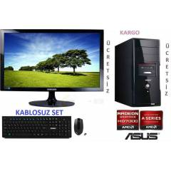 AMD 4 �EKiRDEK+22 LED+320GB +16 GB RAM+HAZIR PC
