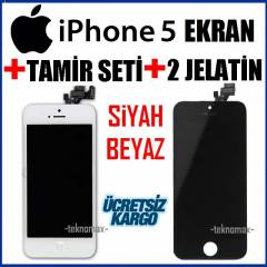 Apple iPhone 5 LCD Ekran + Dokunmatik +TamirSeti