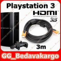 3m Sony PS3 Playstation 3 Hdmi Kablo 3D v1.4