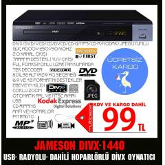 JAMESON DWIX-1440 DVD PLAYER RADYOLU HOPERLÖRLÜ