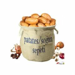 Katlanabilir Keten Patates So�an Sepeti