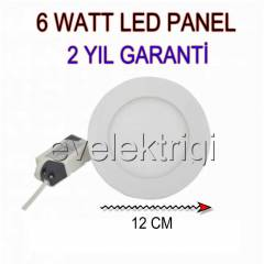 6 WATT SL�M LED PANEL - 6W LED SPOT BEYAZ I�IK