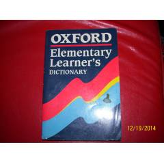 ELEMENTARY LEARNER'S DICTIONARY - OXFORD