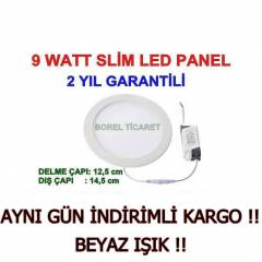9 WATT SLİM LED PANEL - 9W LED SPOT BEYAZ IŞIK