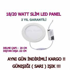 SLİM PANEL 18 WATT - GÜNIŞIĞI - LED SPOT 18-20