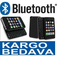 iPhone 4 - 4S Bluetooth Klavyeli K�l�f+Kargo