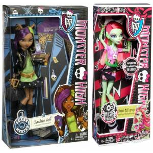 Monster high bebekler venus mcflytrap  clawdeen