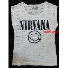 Nirvana Rock  Metal   Bayan  Tişort