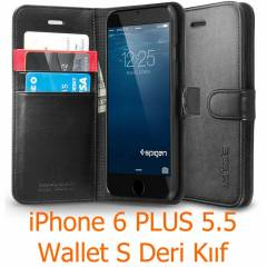 Spigen iPhone 6 Plus Case Wallet S Deri C�zdan K