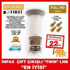 2 Lİ LNB GOLD PERFORMANS LNB  ÇİFTLİ  TWİN HD 3D