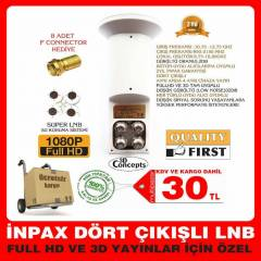 4 LÜ LNB GOLD PERFORMANS LNB  DÖRTLÜ QUAD HD 3D