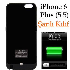 iPhone 6 Plus 5.5 �arjl� K�l�f Pilli Kapak 5000m