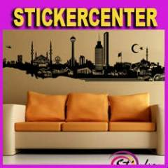 SRN_S_1270 Duvar Sticker ''ANKARA SİLUETİ'&am