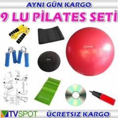 COSFER 9 LU PİLATES SETİ - TOP EL YAYI TWİSTER
