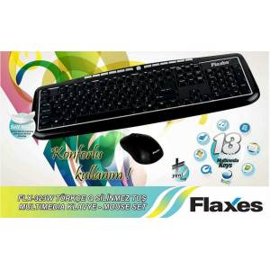 FLAXES FLX323W 2.4 Ghz Wireless Klavye-Mouse Set