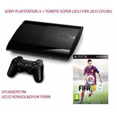 Playstation 3 500 gb PS3 500 GB+FİFA 2015+2.KOL