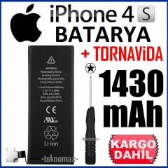 APPLE iPHONE 4S BATARYA PİL 1430 mAh +TORNAVİDA