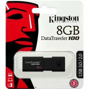 KINGSTON DT100G3/8GB DataTraveler 100 G3 8GB Usb
