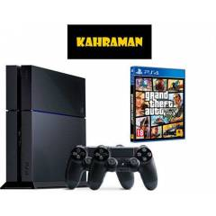 SONY PS4 500 GB + 2.KOL + GTA 5 + PS4 KULAKLIK