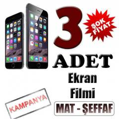 APPLE İPHONE 6 EKRAN KORUYUCU FİLM 3 ADET