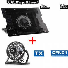 TX ErgoStand Notebook So�utucu + Masa�st� Fan