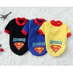 Pet Kedi Köpek Superman Kalın Penye Sweat Shirt