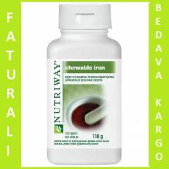 AMWAY NUTRİWAY CHEWABLE IRON 100 TABLET EN UCUZ.