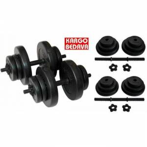33 Kg Delta Vinyl Damb�l Bar Set Dumbell